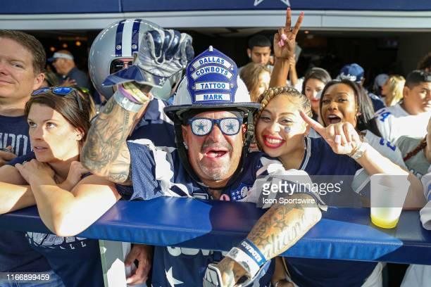 Dallas Cowboys fans cheer during the game between the New York Giants and the Dallas Cowboys on September 8, 2019 at AT&T Stadium in Arlington, TX.