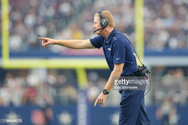 Dallas Cowboys Head Coach Jason Garrett during the game between the New York Giants and the Dallas Cowboys on September 8 2019 at ATT Stadium in...