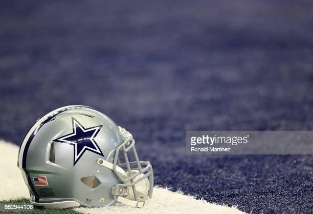 Dallas Cowboys helmet at ATT Stadium on November 5 2017 in Arlington Texas