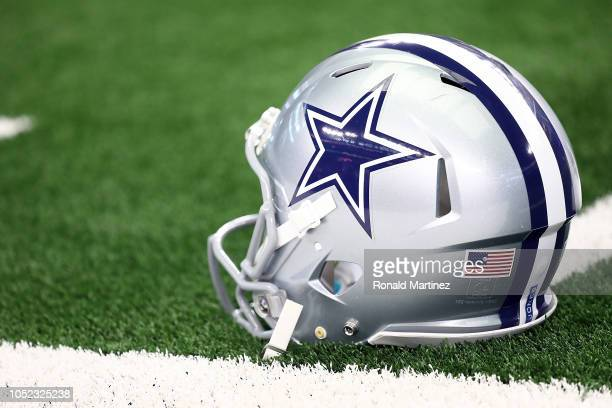 Dallas Cowboys helmet at ATT Stadium on October 14 2018 in Arlington Texas