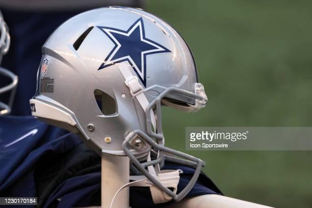 Dallas Cowboys helmet during the game against the Dallas Cowboys and the Cincinnati Bengals on December 13 at Paul Brown Stadium in Cincinnati, OH.