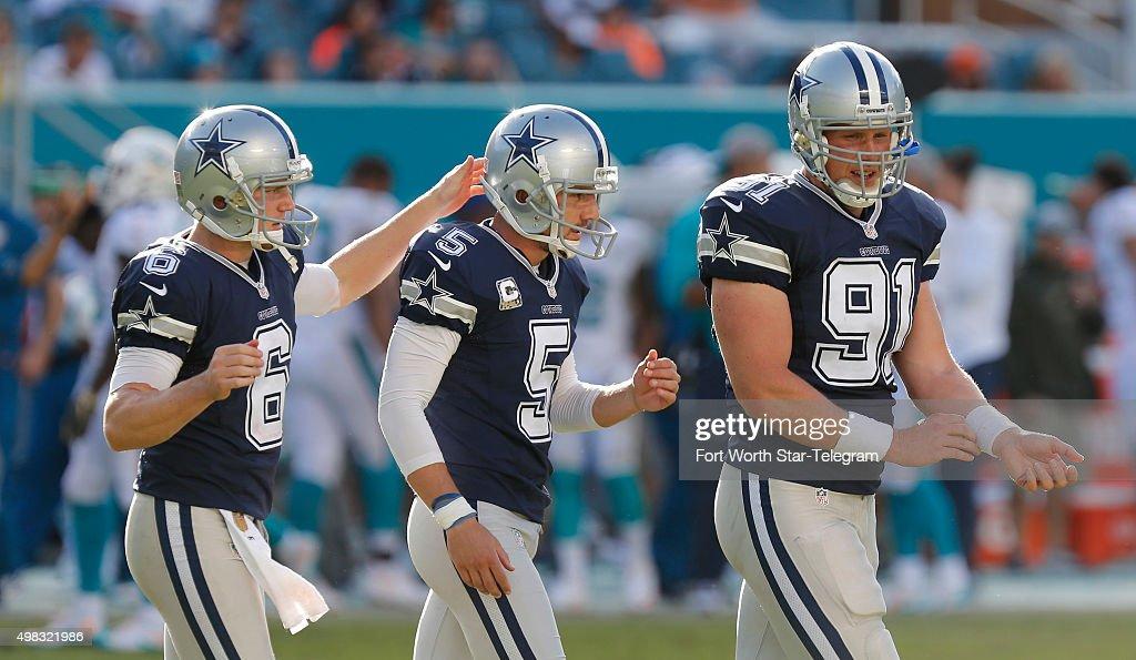 82fe87aa5 Dallas Cowboys at Miami Dolphins. Dallas Cowboys holder punter Chris Jones  (6)