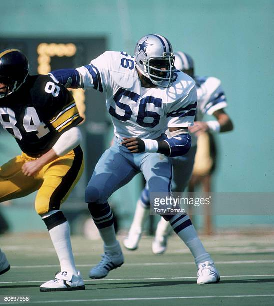 Dallas Cowboys linebacker Thomas Henderson in a 143 to loss to the Pittsburgh Steelers on October 28 1979 at Three Rivers Stadium in Pittsburgh...