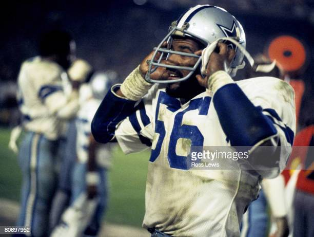 """Dallas Cowboys linebacker Thomas """"Hollywood"""" Henderson during the Cowboys 35-31 loss to the Pittsburgh Steelers in Super Bowl XIII on January 21,..."""