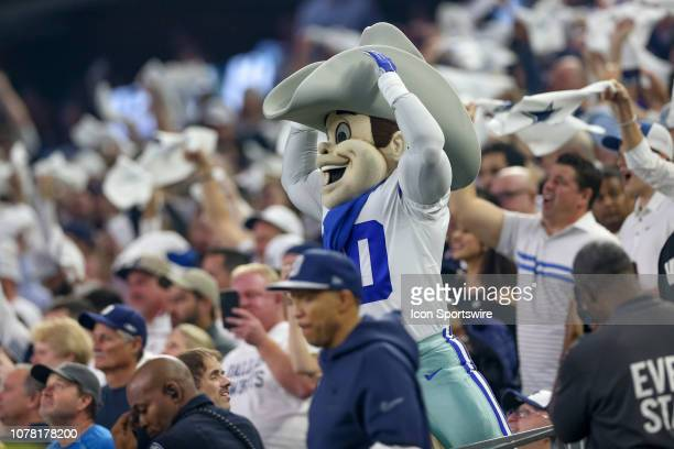 Dallas Cowboys Mascot 'Rowdy' and fans cheer during the NFC wildcard playoff game between the Seattle Seahawks and Dallas Cowboys on January 5 2019...