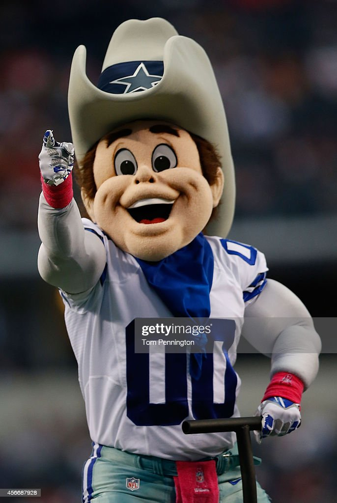Dallas Cowboys Mascot Rowdy Entertains Before The Start Of