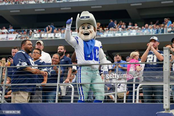 Dallas Cowboys mascot Rowdy prior to the game between the New York Giants and the Dallas Cowboys on September 8 2019 at ATT Stadium in Arlington TX
