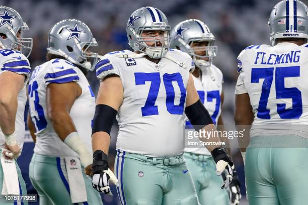 Dallas Cowboys offensive guard Zack Martin during the NFC wildcard playoff game between the Seattle Seahawks and Dallas Cowboys on January 5 2019 at...