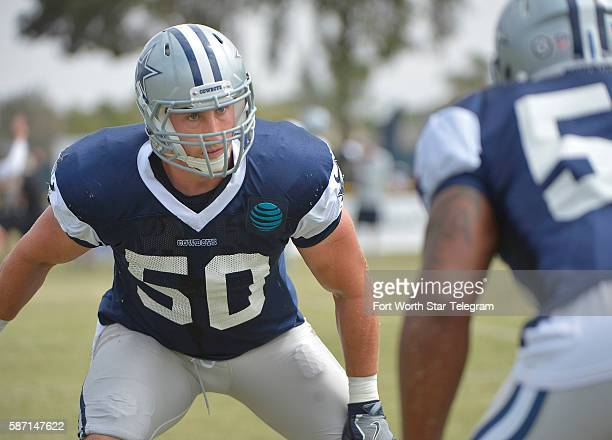 Dallas Cowboys outside linebacker Sean Lee warms up during the Blue vs White scrimmage on Sunday Aug 7 2016 at Cowboys training camp in Oxnard Calif