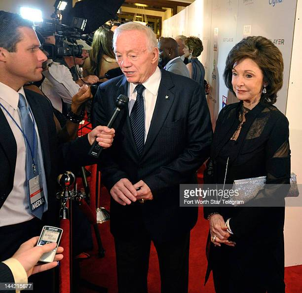 Dallas Cowboys owner Jerry Jones and Gene Jones appear on the red carpet during the Cowboys 1992 Reunion at the Westin Stonebriar Resort in Frisco...