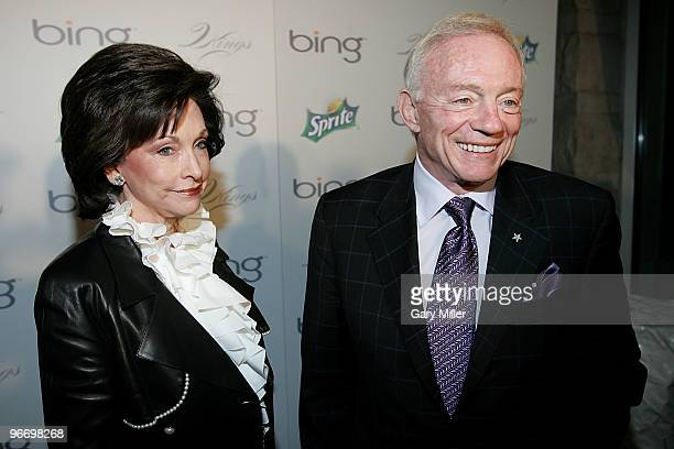 Dallas Cowboys owner Jerry Jones and his wife Gene arrive for the 4th annual Two Kings Dinner hosted by JayZ and LeBron James at the W Dallas on...