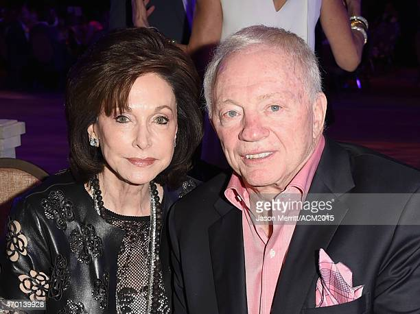 Dallas Cowboys Owner President and General Manager Jerry Jones and Gene Jones pose during the ACM Lifting Lives Gala at the Omni Hotel on April 17...