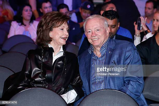 Dallas Cowboys Owner President and General Manager Jerry Jones sits ringside during the NABO middleweight title fight at TMobile Arena on May 7 2016...