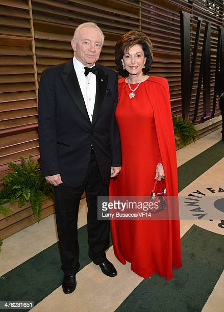 Dallas Cowboys Owner/President/General Manager Jerry Jones and Gene Jones attend the 2014 Vanity Fair Oscar Party Hosted By Graydon Carter on March 2...