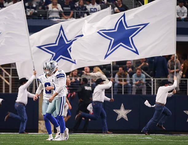 d2e647ad8 Dallas Cowboys punter Chris Jones (6) and kicker Dan Bailey (5) walk