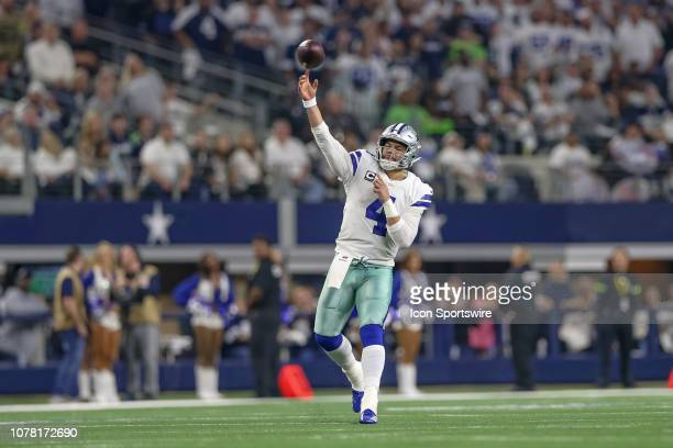 Dallas Cowboys quarterback Dak Prescott throws a pass during the NFC wildcard playoff game between the Seattle Seahawks and Dallas Cowboys on January...