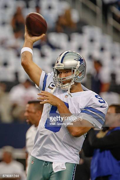 Dallas Cowboys Quarterback Tony Romo [3808] during warmups prior to the NFL season opener football game between the Dallas Cowboys and San Francisco...