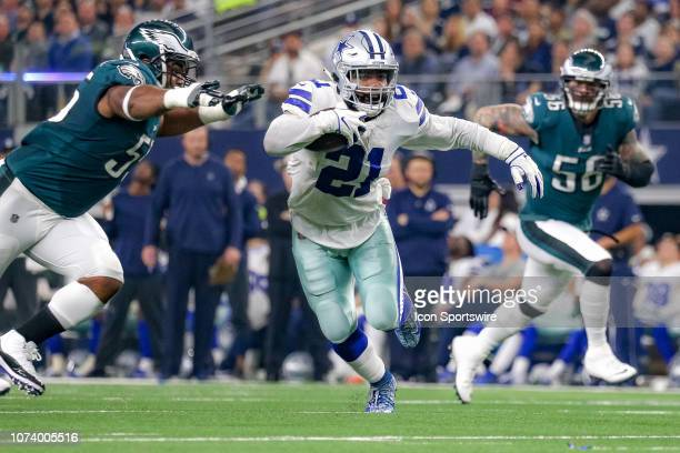 Dallas Cowboys Running Back Ezekiel Elliott rushes during the game between the Philadelphia Eagles and Dallas Cowboys on December 9 2018 at ATT...