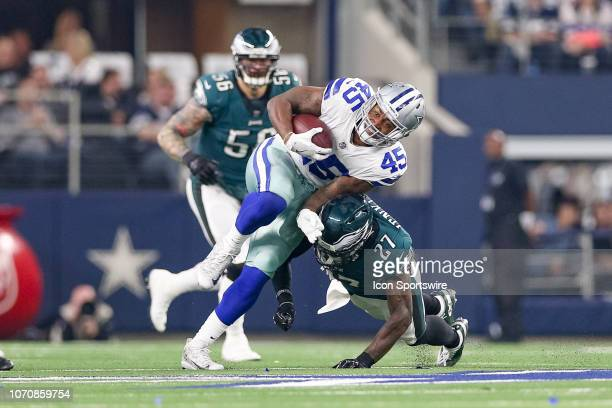 Dallas Cowboys Running Back Rod Smith is tackled by Philadelphia Eagles Safety Malcolm Jenkins during the game between the Philadelphia Eagles and...
