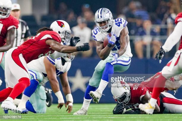 Dallas Cowboys running back Rod Smith rushes into the Arizona Cardinals secondary during the preseason football game between the Dallas Cowboys and...