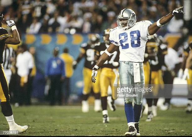 Dallas Cowboys safety Darren Woodson during Super Bowl XXX a 2717 Dallas Cowboys victory over the Pittsburgh Steelers on January 28 at Sun Devil...