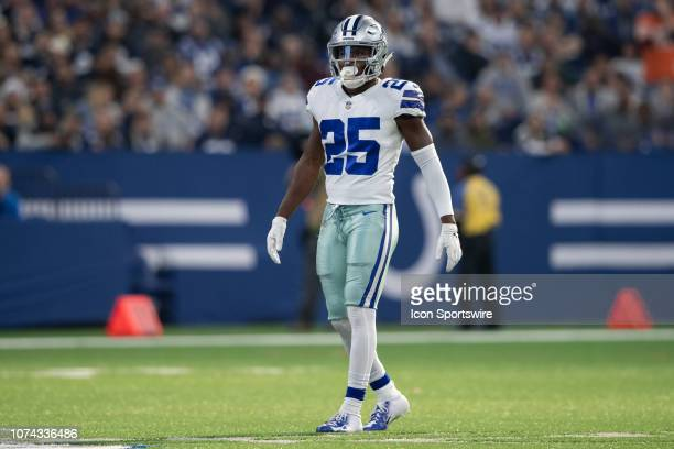 Dallas Cowboys safety Xavier Woods lines up before the snap during the NFL game between the Indianapolis Colts and Dallas Cowboys on December 16 at...