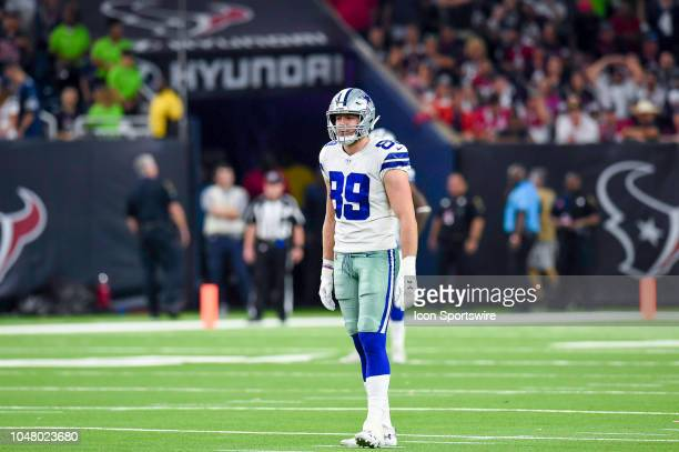 Dallas Cowboys tight end Blake Jarwin gets ready for a play during the game between the Dallas Cowboys and Houston Texans on October 7 2018 at NRG...