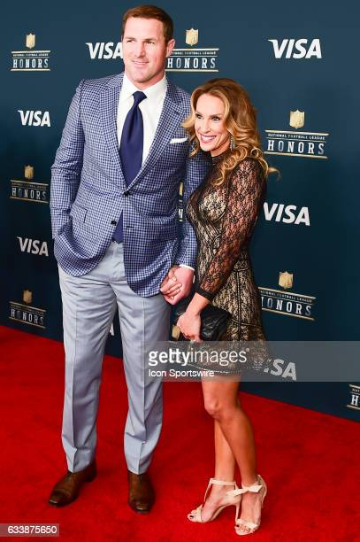 Dallas Cowboys tight end Jason Witten and his wife pause for photos during the NFL Honors Red Carpet on February 4 2017 at the Worthan Theater Center...