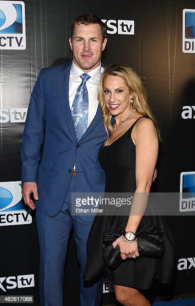 Dallas Cowboys tight end Jason Witten and Michelle Witten attend DirecTV Super Saturday Night hosted by Mark Cuban's AXS TV and Pro Football Hall of...