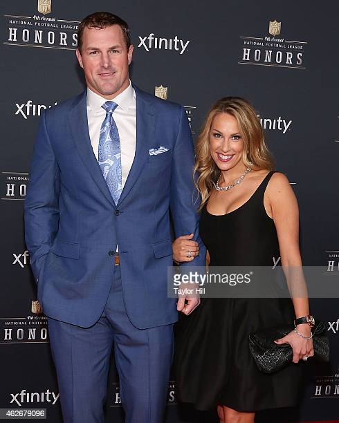 Dallas Cowboys tight end Jason Witten and Michelle Witten attend the 2015 NFL Honors at Phoenix Convention Center on January 31 2015 in Phoenix...
