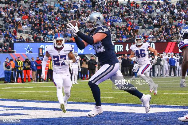 Dallas Cowboys tight end Jason Witten makes a touchdown catch during the fourth quarter of the National Football League game between the New York...
