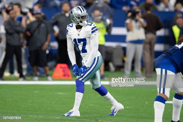 Dallas Cowboys wide receiver Allen Hurns lines cup before the snap during the NFL game between the Indianapolis Colts and Dallas Cowboys on December...