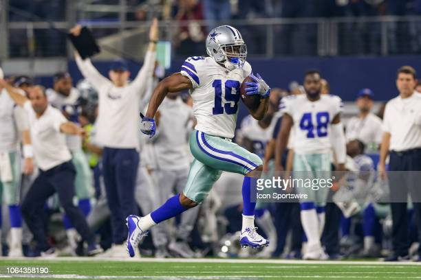 Dallas Cowboys Wide Receiver Amari Cooper breaks free for a touchdown during the Thanksgiving Day game between the Washington Redskins and Dallas...