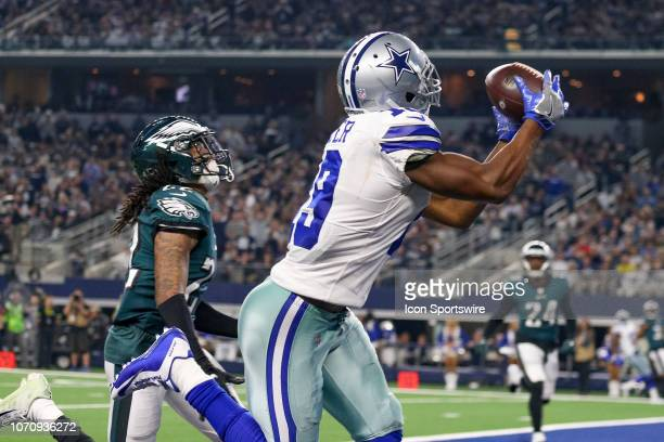 Dallas Cowboys Wide Receiver Amari Cooper catches a touchdown pass during the game between the Philadelphia Eagles and Dallas Cowboys on December 9...