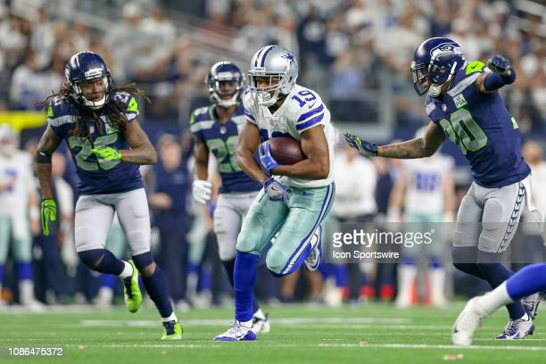 Dallas Cowboys wide receiver Amari Cooper runs after a catch during the NFC wildcard playoff game between the Seattle Seahawks and Dallas Cowboys on...