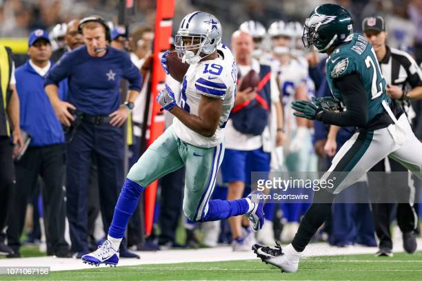 Dallas Cowboys Wide Receiver Amari Cooper runs after making a reception during the game between the Philadelphia Eagles and Dallas Cowboys on...