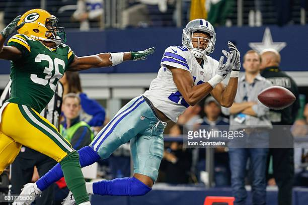 Dallas Cowboys wide receiver Brice Butler cannot make the catch during the NFC Divisional Playoff game between the Dallas Cowboys and Green Bay...