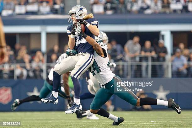Dallas Cowboys Wide Receiver Cole Beasley [18238] makes a catch with Philadelphia Eagles Cornerback Bradley Fletcher [11551] covering during the NFL...