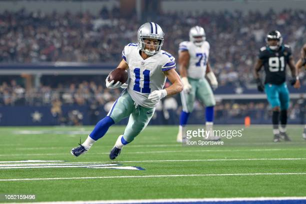 Dallas Cowboys wide receiver Cole Beasley catches a touchdown pass during the game between the Jacksonville Jaguars and Dallas Cowboys on October 14...