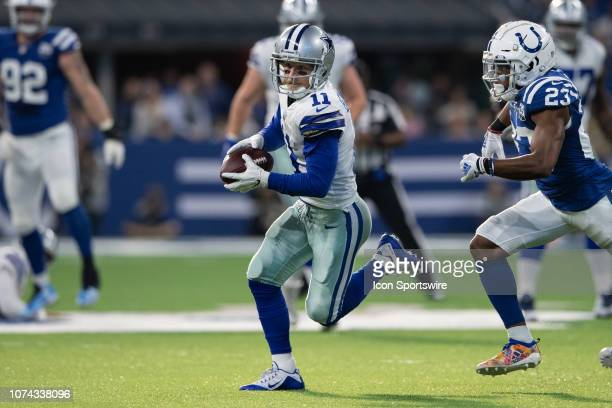 Dallas Cowboys wide receiver Cole Beasley catches the ball over the middle during the NFL game between the Indianapolis Colts and Dallas Cowboys on...