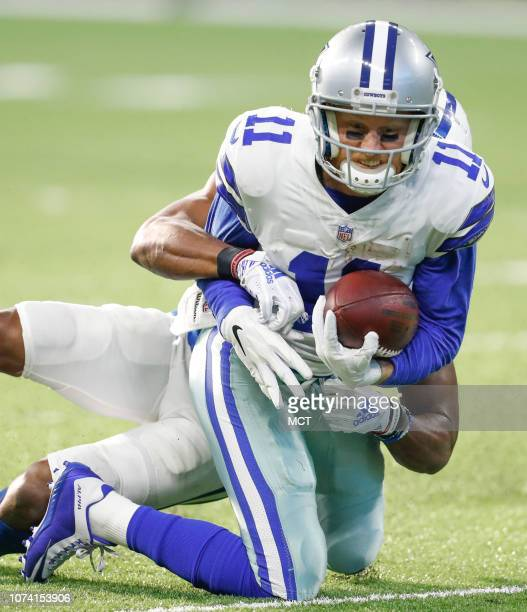 Dallas Cowboys wide receiver Cole Beasley is taken down on this second half pass against the Indianapolis Colts on Sunday Dec 16 2018 at Lucas Oil...