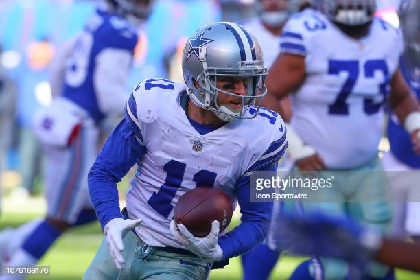 Dallas Cowboys wide receiver Cole Beasley makes a catch and run during the National Football League game between the New York Giants and the Dallas...