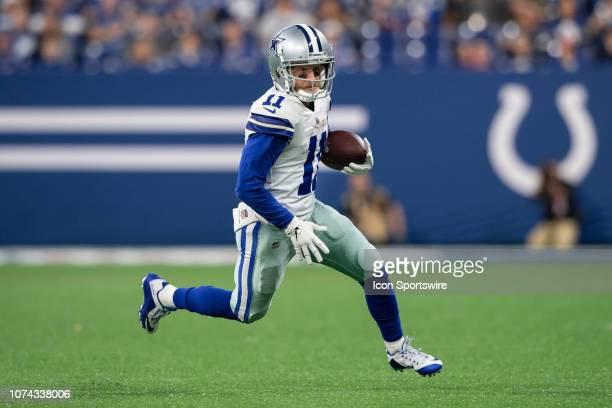 Dallas Cowboys wide receiver Cole Beasley turns to the outside after making a catch during the NFL game between the Indianapolis Colts and Dallas...