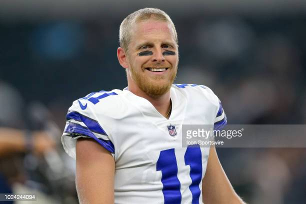 Dallas Cowboys wide receiver Cole Beasley warms up prior to the preseason football game between the Dallas Cowboys and Arizona Cardinals on August...