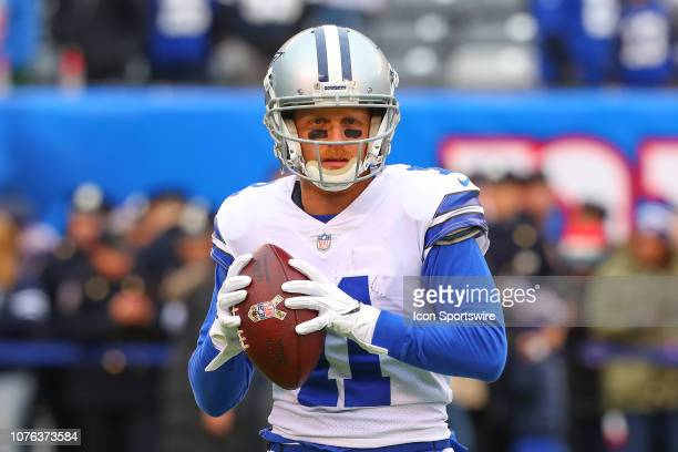 Dallas Cowboys wide receiver Cole Beasley warms up prior to the National Football League game between the New York Giants and the Dallas Cowboys on...