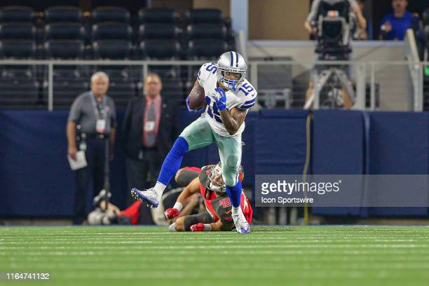 Dallas Cowboys wide receiver Devin Smith runs after breaking a tackle during the preseason game between the Tampa Bay Buccaneers and Dallas Cowboys...