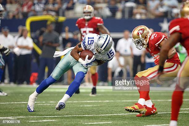 Dallas Cowboys Wide Receiver Devin Street [11760] makes a catch during the NFL season opener football game between the Dallas Cowboys and San...