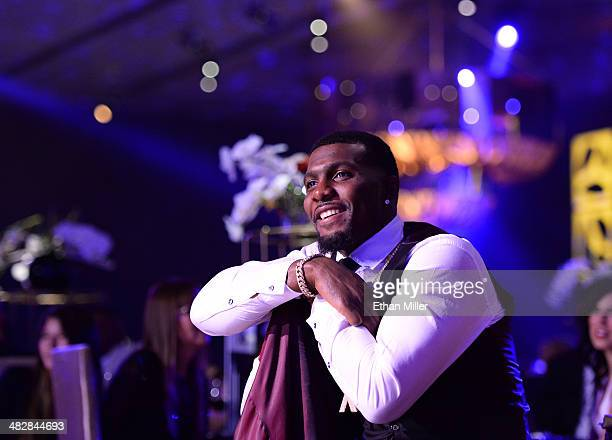 Dallas Cowboys wide receiver Dez Bryant attends the 13th annual Michael Jordan Celebrity Invitational gala at the ARIA Resort & Casino at CityCenter...