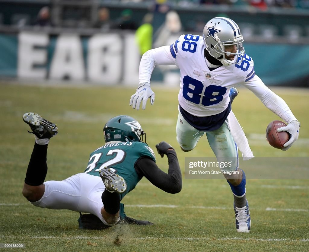 Dallas Cowboys Wide Receiver Dez Bryant Fights For Yards