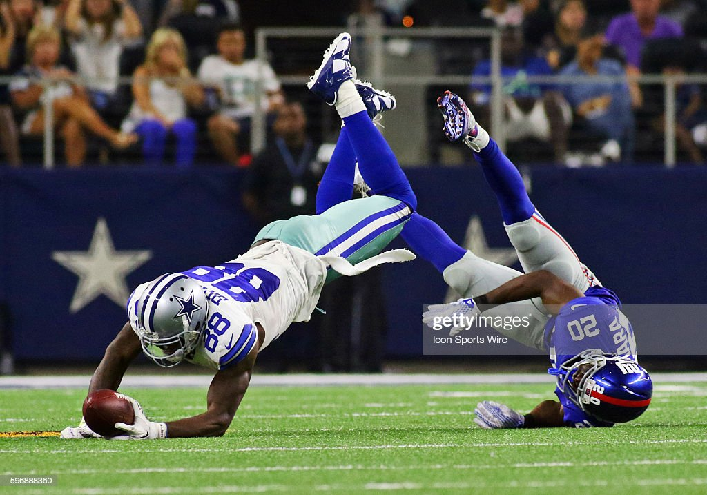 6d2ff757bc3 Dallas Cowboys wide receiver Dez Bryant (88) is tackled by New York Giants  cornerback